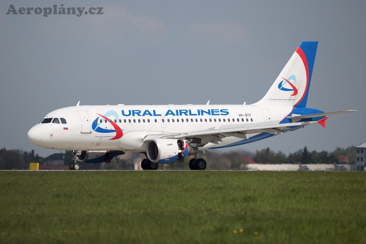 VP-BTF Ural Airlines Airbus A319-112